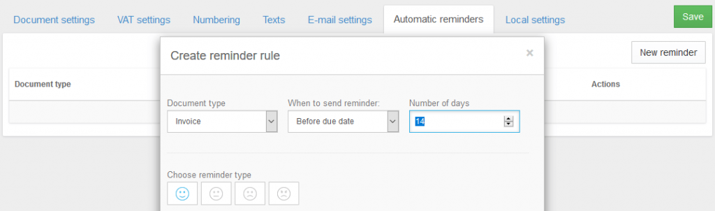 Billdu Invoicing Automatic reminders for invoices estimates and POs