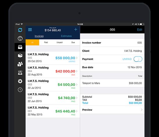 Best iPad invoicing app Make invoices offline