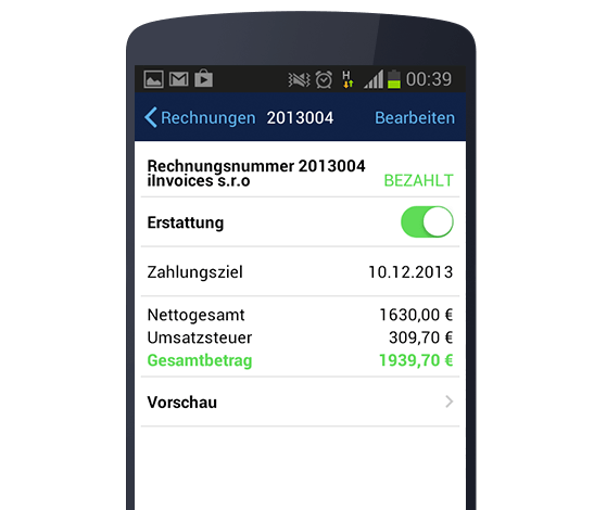 Billdu Create printable Android Invoices