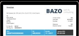 Billdu Customizable professionally looking invoice templates