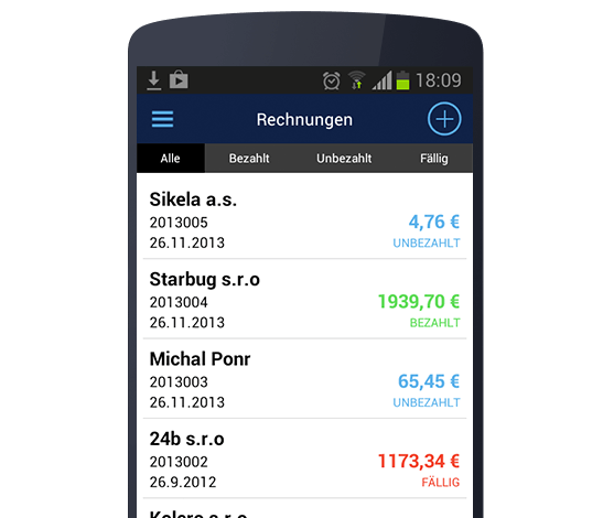 Billdu Generate invoices on Android offline or online in the app