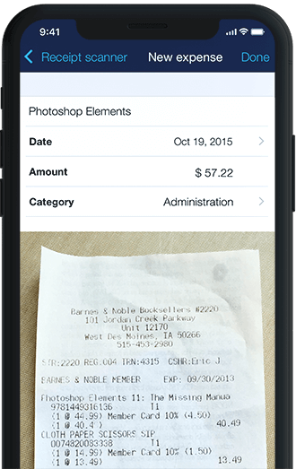 Invoice App iPhone Scan and save receipts