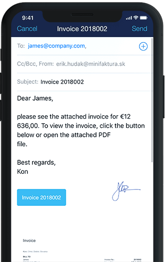 Make invoice on iPhone Send or print invoices
