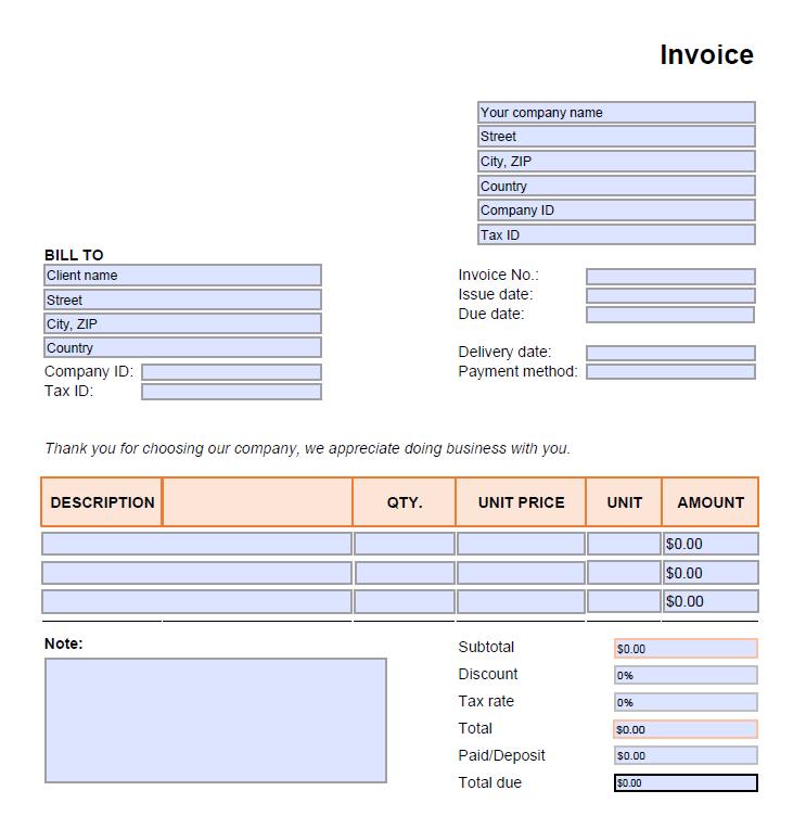 Free Invoice Template PDF