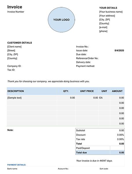 Google Docs Invoice Template 2