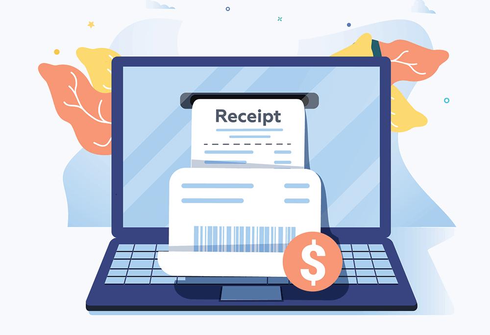 Online receipts