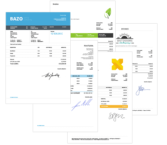 Sample invoices and sample invoice templates