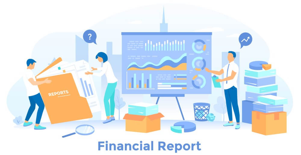 Managing small business finances with financial reports