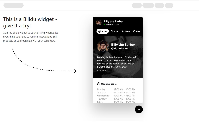 billdu small business software website widget1