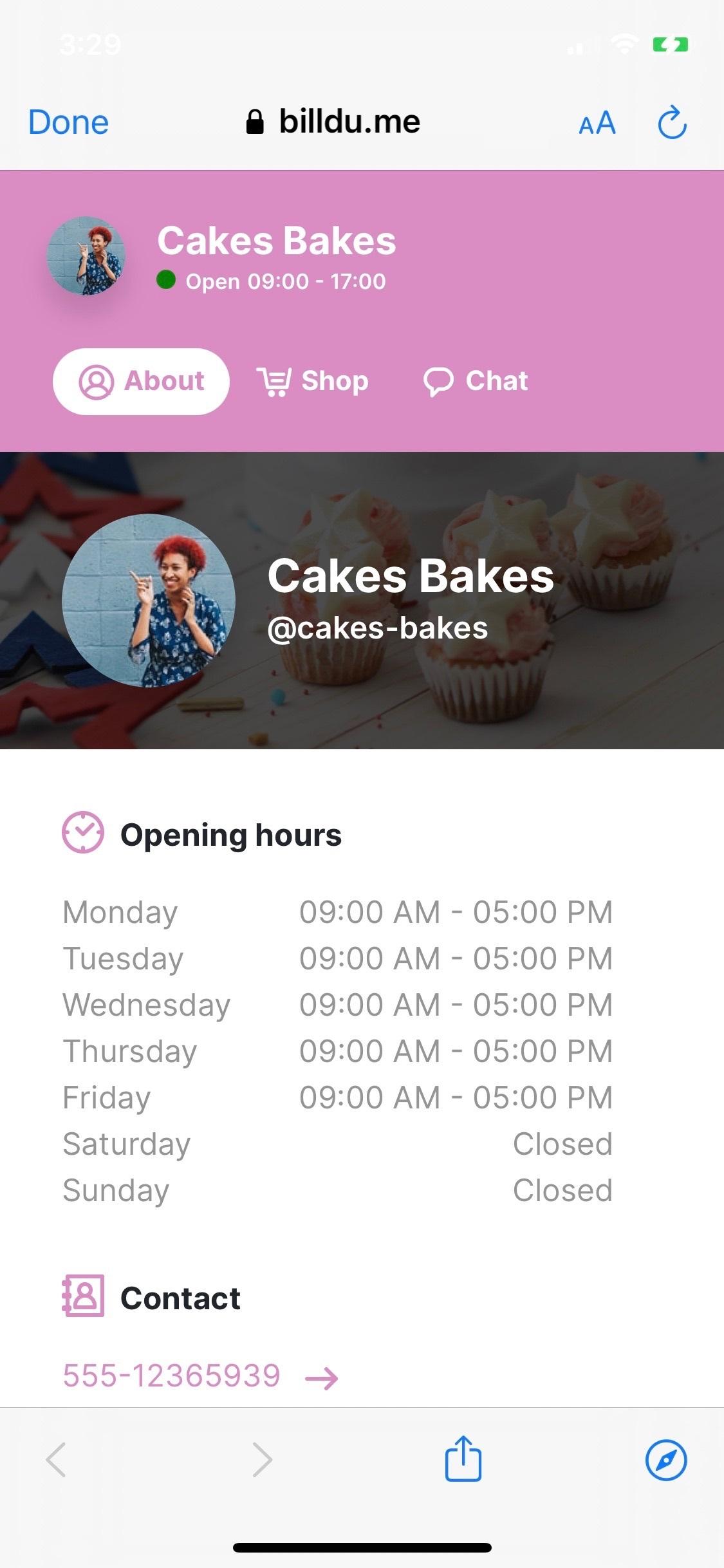 business communication cakes