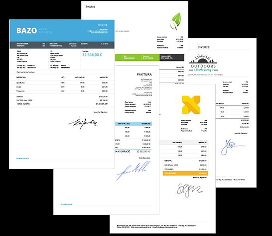 Billdu mobile invoicing - Invoice template sample