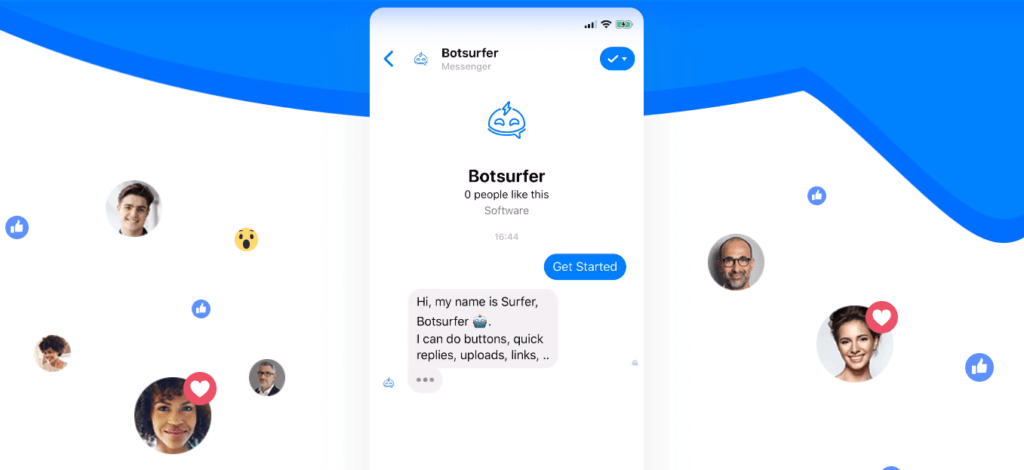Botsurfer Facebook Messenger Chatbot Builder Small Business Software