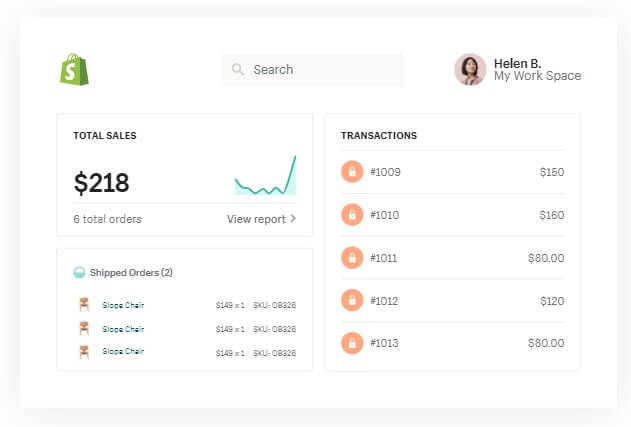 Shopify - best ecommerce software platform for SMEs