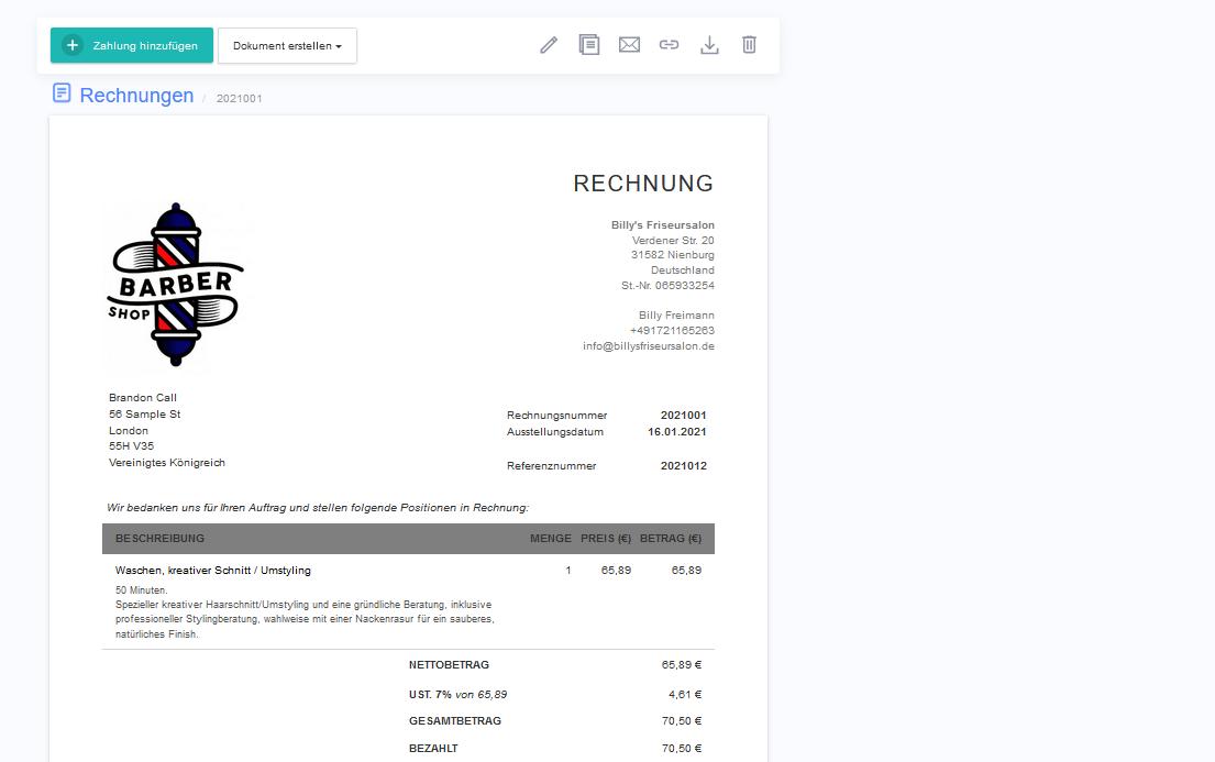 rechnnugsapp_online rechnung_muster