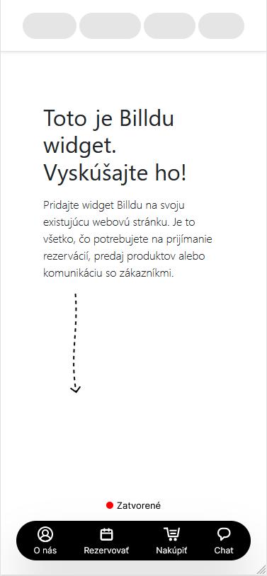 Komunikacia Widget pre webstranku