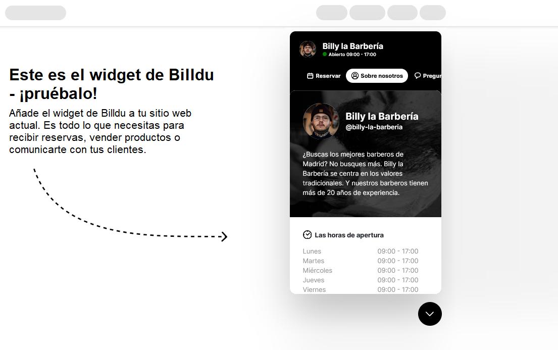 facturas app presupuestos barber widget web