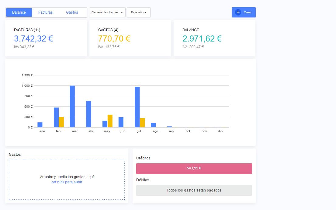 facturas app presupuestos resumen